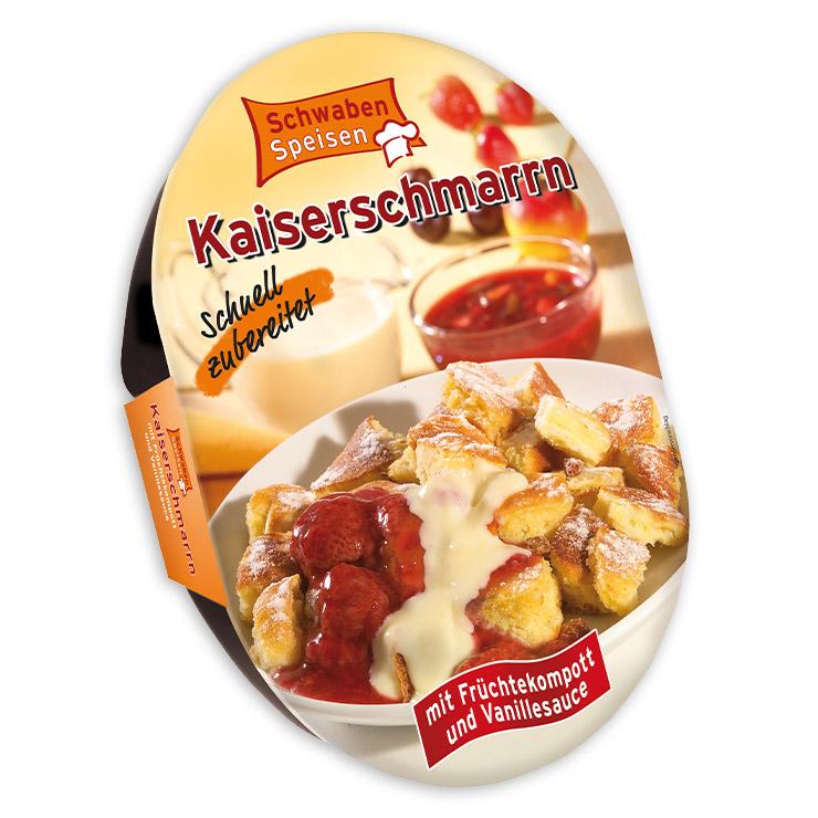 Kaiserschmarrn mit Früchtekompott und Vanillesauce